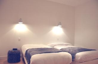 L'APPART - la chambre avec deux lits